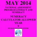 Year 9 May 2014 Numeracy Calculator - Answers