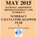 Year 7 May 2015 Numeracy Calculator - Answers