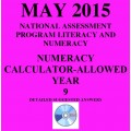 Year 9 May 2015 Numeracy Calculator - Answers