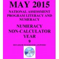 Year 9 May 2015 Numeracy Non-Calculator - Answers