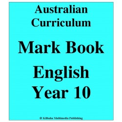 Australian Curriculum English Year 10 - Mark Book