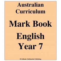 Australian Curriculum English Year 7 - Mark Book