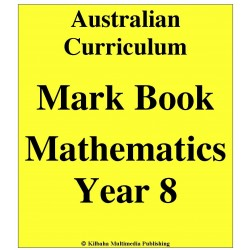 Australian Curriculum Mathematics Year 8 - Mark Book