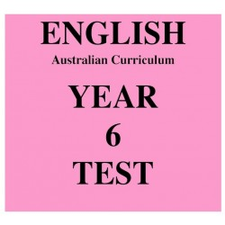 Australian Curriculum English Year 6
