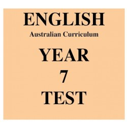 Australian Curriculum English Year 7