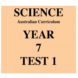 Australian Curriculum Science Year 7 Test 1