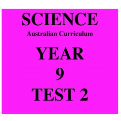 Australian Curriculum Science Year 9 Test 2