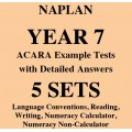 Detailed answers to the ACARA NAPLAN Example Tests - Year 7