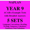 Detailed answers to the ACARA NAPLAN Example Tests - Year 9
