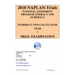 2010 Y7 Numeracy Non-Calculator