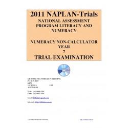 2011 Y7 Numeracy Non-Calculator