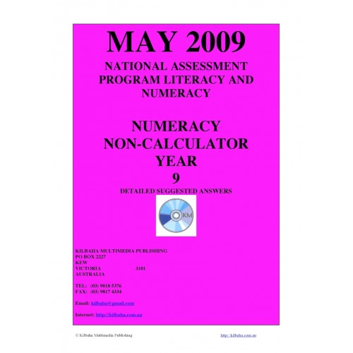 2009: Year 9 May 2009 Numeracy Non-Calculator